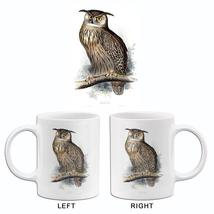 Eagle Owl - Bubo Maximus - 1837 - Bird Illustration Mug - $23.99+