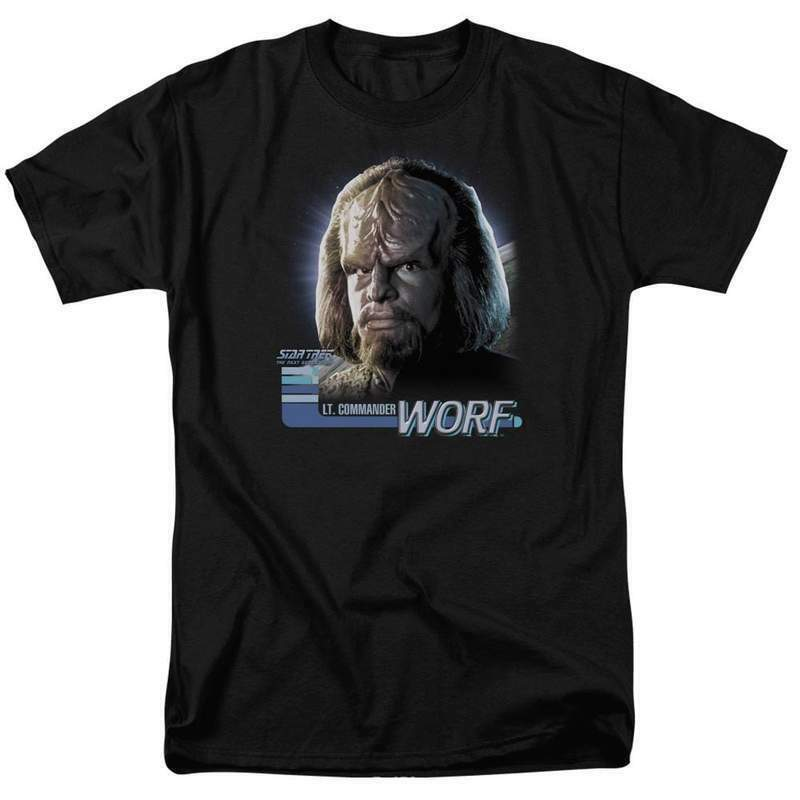 Star Trek The Next Generation Sci-Fi LT. Commander Worf graphic t-shirt CBS614