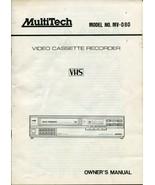 MultiTech MV-080 VCR Video Cassette Recorder VHS Manual - $4.94