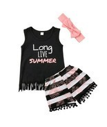 Summer Kids Baby Girls Clothes Princess Party Outfit Sleeveless Cotton Tops - £8.08 GBP+