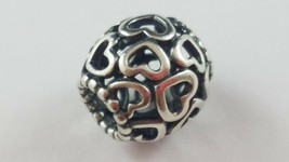 PANDORA Open Your Heart Charm Sterling Silver FREE SHIPPING - $18.80