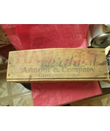Armour & Armour Chicago USA Ham Loaf Wooden Box - $45.00