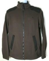 TIMBERLAND Men's Brown/black Full Zip Fleece Jacket Size S #8147J-246 - $59.99