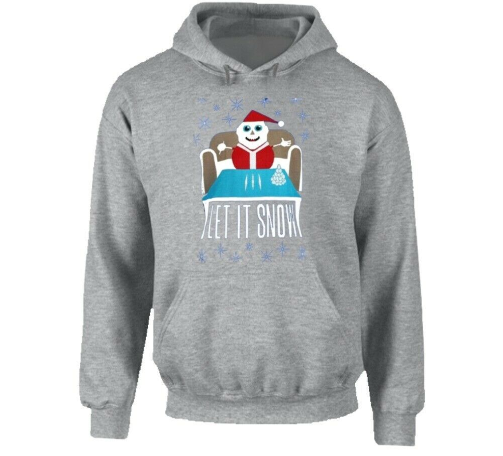 Let It Snow Cocaine Funny Parody Wal Mart Sport Gray Hoodie - $36.62 - $38.60