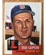 1953 Topps #18 Ted Lepcio Baseball Trading Card Second Base Boston Red Sox - $16.82