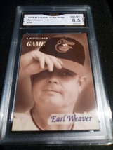 1998 fleer sports illustrated Earl Weaver GMA Graded 8.5 NM-MT+ baseball... - $7.75