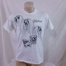 Vintage 1995 Maltese Dog T Shirt Single Stitch 90s Poodle Nature Animal ... - $37.99