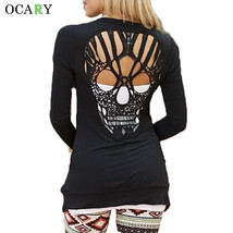 Skull Hollow Out Women Sweaters Knitted Long Sleeve Cardigans Spring Summer Thin - $20.68