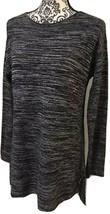 Ellen Tracy Women's Size Medium Marled Blue Boatneck Pullover Sweater - $12.99