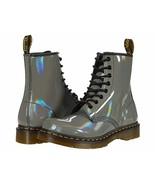 NIB*Womens*Dr. Martens Rainbow Patent*1460 8 Eye Boot**5-8*Gunmetal*Doc ... - $199.00
