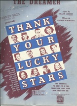 1943 The Dreamer  from Thank Your Lucky Stars Guitar Piano Vintage Sheet... - $7.95