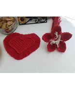 Macrame Coaster and Flower Set   Set of 2, Coaster and Flower Decor  Gif... - $44.55