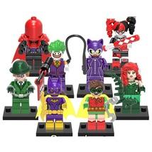 8 Pc Poison Ivy Riddler Red Hood Robin Batman Minifigure Block Toys Fit ... - $6.99