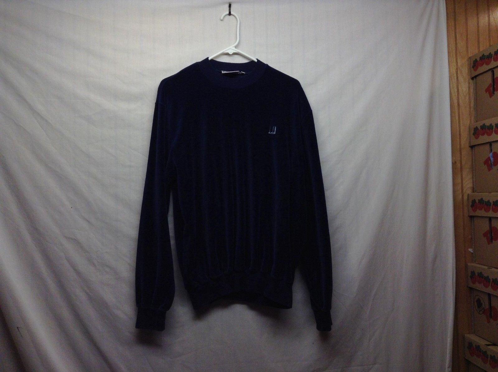 Ladies Dunhill London Navy Blue Sweater Sz XL