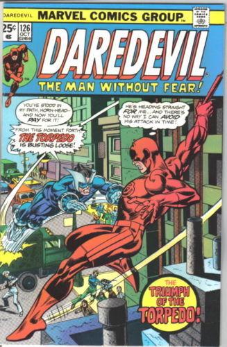 Daredevil Comic Book #126 Marvel Comics 1975 VERY GOOD