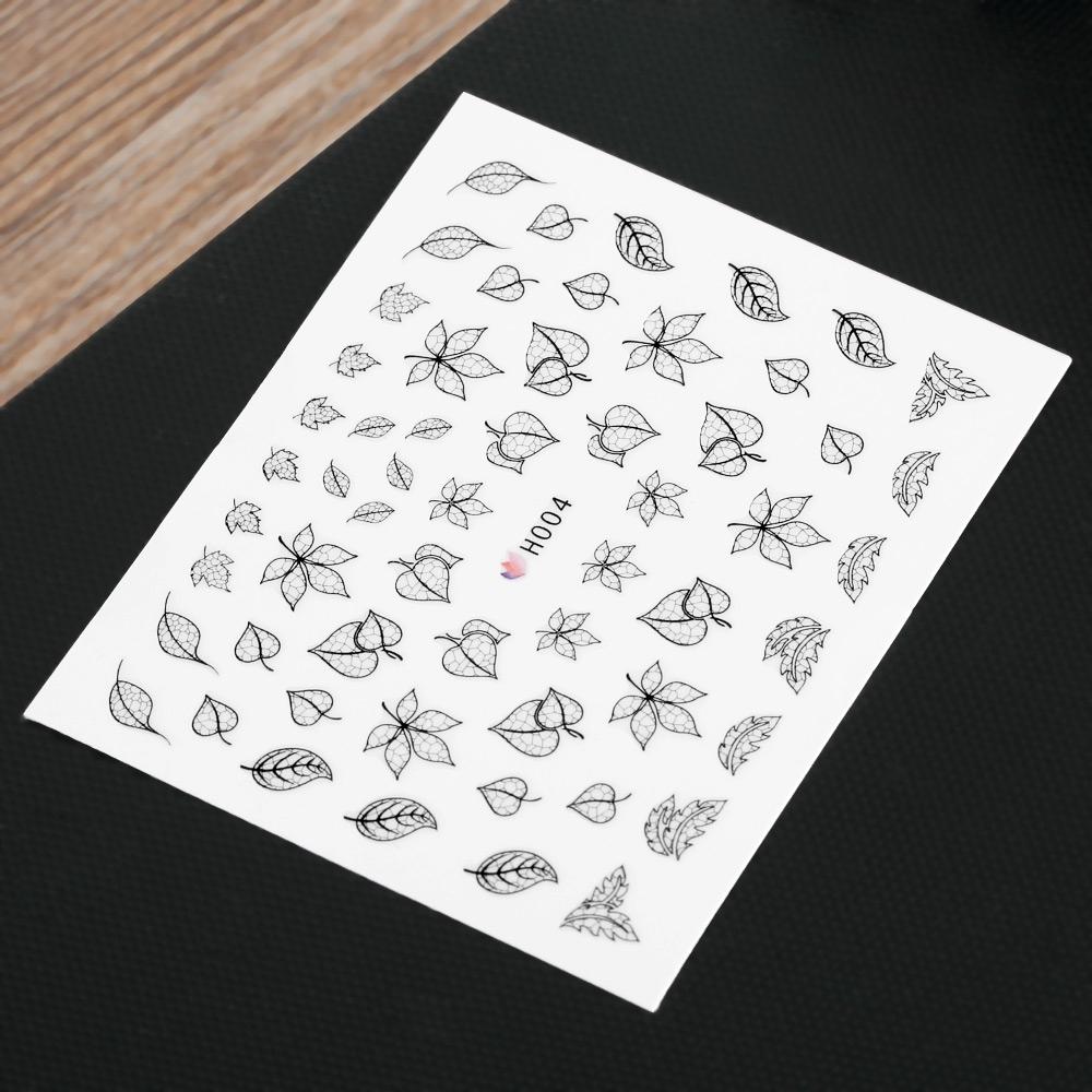 50 pcs Fashion 3D DIY Black Decal Nail Art(BLACK STYLE 04) image 3