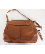 Stone Mountain Brown Leather Shoulder Purse Bag - $26.72