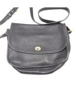 VTG Coach Black Leather City Bag Handbag Shoulder Bag Purse 9790 Classic - $44.54