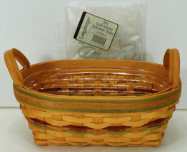 2001 Longaberger Small Autumn Reflections Daily Blessings Basket & Protector NEW - $34.99