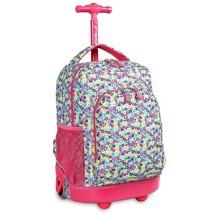 NEW! Kids Rolling Backpack School Bag 17'' Floret   - $104.59 CAD