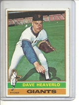 (b-30)  1976 Topps #213: Dave Heaverlo - Rookie - $0.50