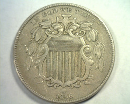 1866 Rays Shield Nickel Extra Fine+ Xf+ Extremely Fine+ Ef+ Nice Original Coin - $160.00