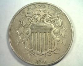 1866 RAYS SHIELD NICKEL EXTRA FINE+ XF+ EXTREMELY FINE+ EF+ NICE ORIGINA... - $160.00