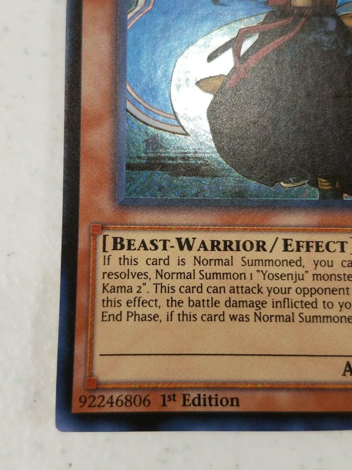 Yu-gi-oh! Trading Card - Yosenju Kama 2 - THSF-EN004 - Secret Rare - 1st Ed.