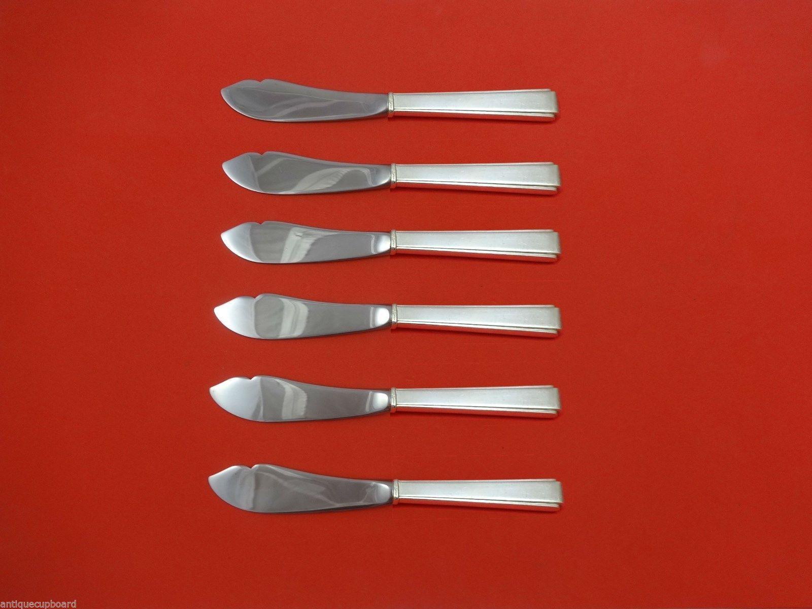 Primary image for Modern Classic by Lunt Sterling Silver Trout Knife Set 6pc. HHWS  Custom 7 1/2""