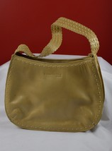 Kenneth Cole Tan Leather Handbag Pocketbook w/Strap Zipper Close Purse P... - $30.85