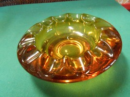 "Vintage FOSTORIA ""Jamestown"" Amber 12 ""Thumbprint"" design ASH TRAY......... - $6.93"