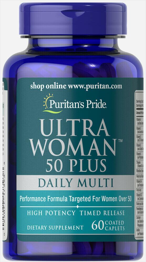 #1 BEST ULTRA WOMAN 50 PLUS RIBOFLAVIN NIACIN FOLIC ACID SUPPLEMENT 120 CAPLETS image 2