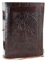 Large Tree Of Life Leather Blank Book Occult Magical Best Seller Journal... - $12.07