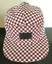 Vans Shoes Mens Davis 5 panel Checkerboard Red White Strap back hat cap NWT - $21.37