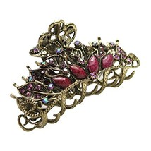 Stylish Hair Accessory Hair Clips Crystal Retro Updo Hairpin Durable Hair Grip K - $16.49