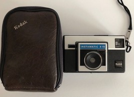Vintage 1970s KODAK INSTAMATIC X-15 CAMERA with strap and case - $14.84