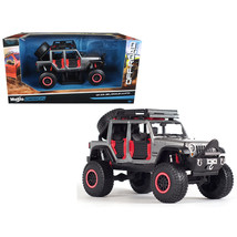 2015 Jeep Wrangler Unlimited Grey Off Road Kings 1/24 Diecast Model Car ... - $42.00