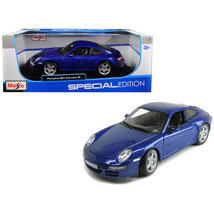 New Porsche Carrera S 911 997 Blue 1/18 Diecast Model Car by Maisto 31692bl - $51.36