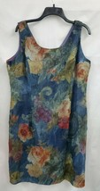 Tabloid Sleeveless Floral Sheer Lined Dress Sz 16 EUC 0179 Made in USA - $15.45