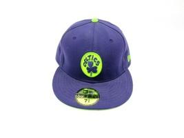 New Era 59Fifty Boston Celtics Hardwood Classic Hat Fitted 7 3/8 Wool USA Purple - $32.62