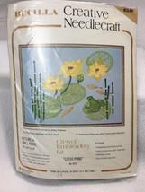 NEW Bucilla Lotus Pond Crewel Embroidery Kit 8519 Creative Needlecraft Vtg - $29.99