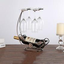 Wine Rack Hanging Metal Holder Display Stand Bracket Glass Bar Home Decor - $19.98