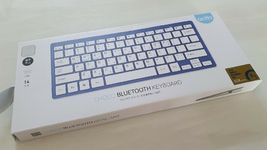 Actto Korean English Bluetooth Slim Keyboard Wireless Compact Tenkeyless (Blue) image 4