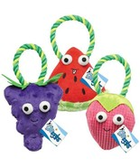 Happy Fruit Plush Rope Toy For Dogs Strawberry Watermelon Grape OR All 3... - $11.77+
