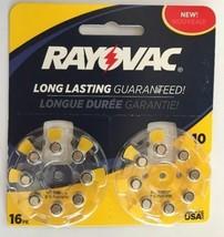 2x TWO Rayovac Hearing Aid Batteries Size 10 16x Pack L10ZA 1.45v NEW 32x total - $12.49
