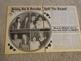 Kristy Mcnichol Brooke Shields teen magazine pinup clippings spill the beans Bop