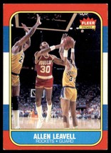 1986-87 Fleer Basketball Premier Allen Leavell Houston Rockets #62 - $0.50