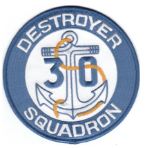 "5"" NAVY DESRON 30 DESTROYER SQUADRON SQUADRON EMBROIDERED PATCH - $23.74"