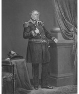 WINFIELD SCOTT Civil War US Army General - SUPERB Portrait Antique Print - $13.86