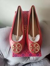 Tory Burch Benton 2 Ballet Flats in Red Leather Gold Logo, Sz 6 NIB! - $173.24